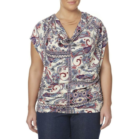 Simply Emma Tops - Simply Emma Womens Plus Top Floral size 1X NEW